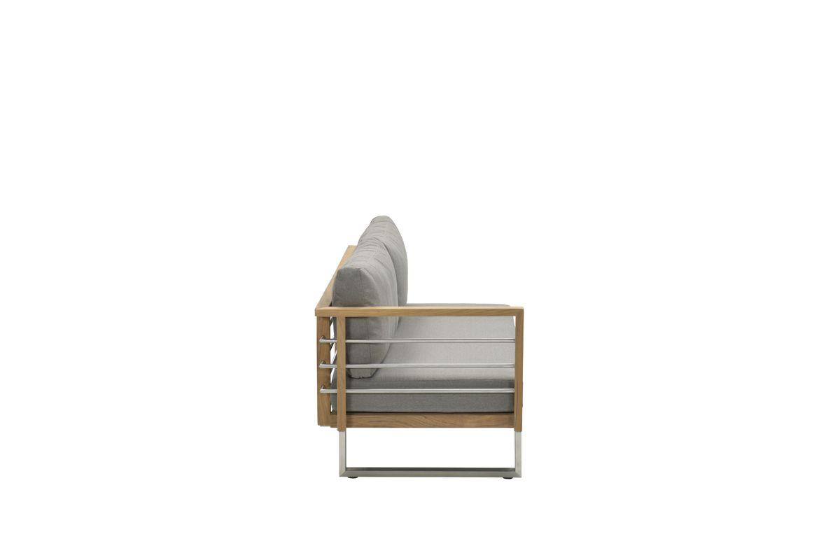 Belerive open bank rechts (RVS/teak/warm grey)