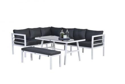 Blakes Lounge dining set 4-dlg (mat wit/ reflex black)