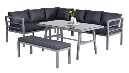 Blakes Lounge dining set 4-dlg (arctic grey/ reflex black)