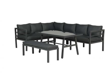 Blakes lounge dining set 4-pcs (carbon black/reflex black)