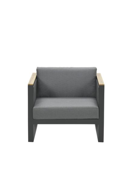 Alain lounge fauteuil (c.bl./rope mid gr. Ø5mm/mid gr)