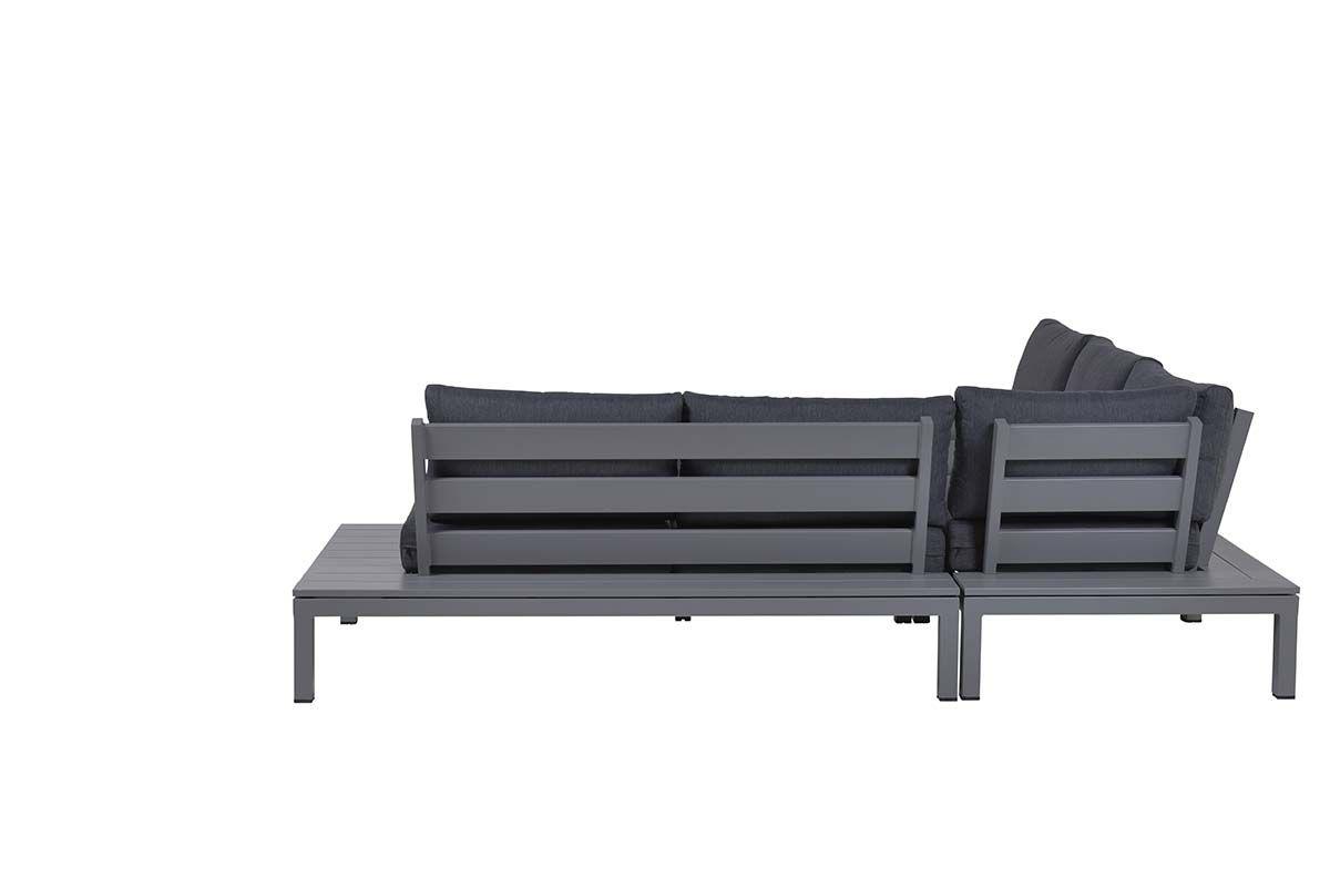 Annabella lounge set 4-dlg (arctic grey/ reflex black)