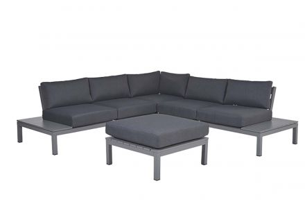 Annabella lounge set 4-dlg (arctic grey/ reflex black)