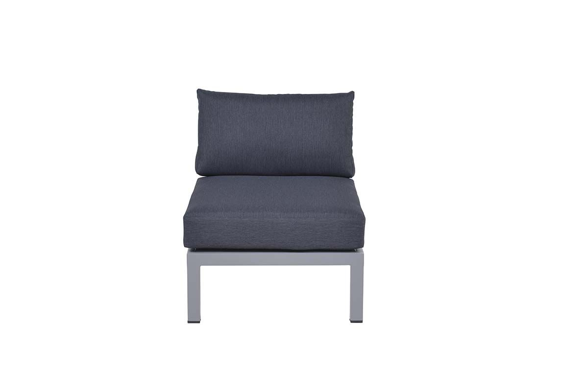 Annabella lounge fauteuil (arctic grey/ reflex black)