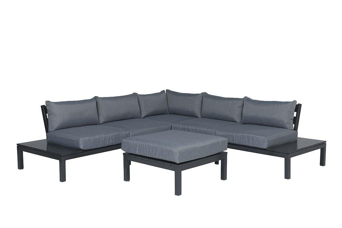 Annabella lounge set 4-dlg (carbon black/ reflex grey)