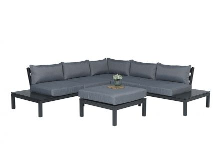 Annabella lounge set 4-dlg (carbon black/ reflex grey)