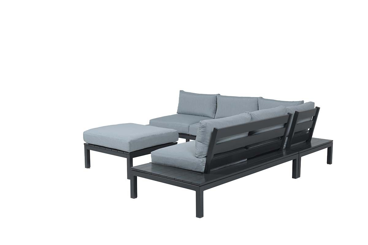 Annabella lounge set 4-dlg (carbon black/ mint grey)