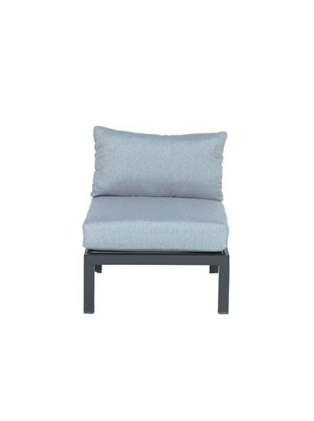 Annabella lounge fauteuil (carbon black/ mint grey)