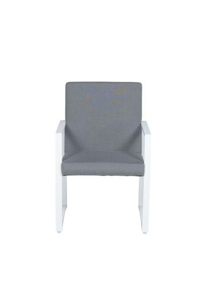 Aureum dining fauteuil (mat wit/ licht grijs)