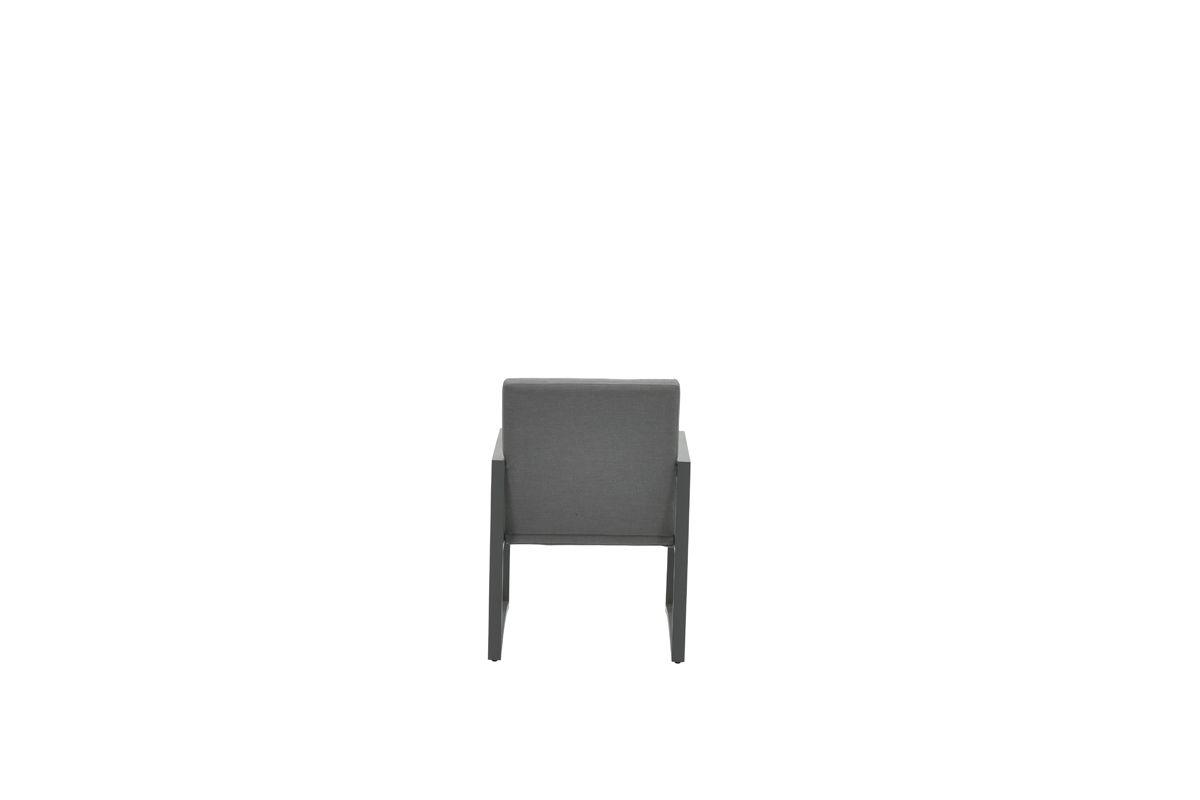 Aureum dining fauteuil (carbon black/ licht grijs0