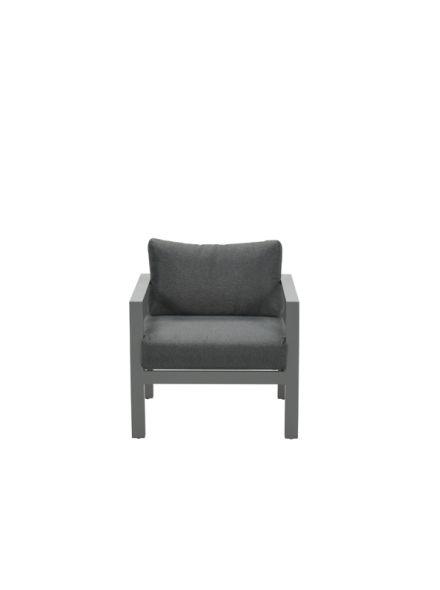Bianca lounge fauteuil (arctic grey/ reflex black)