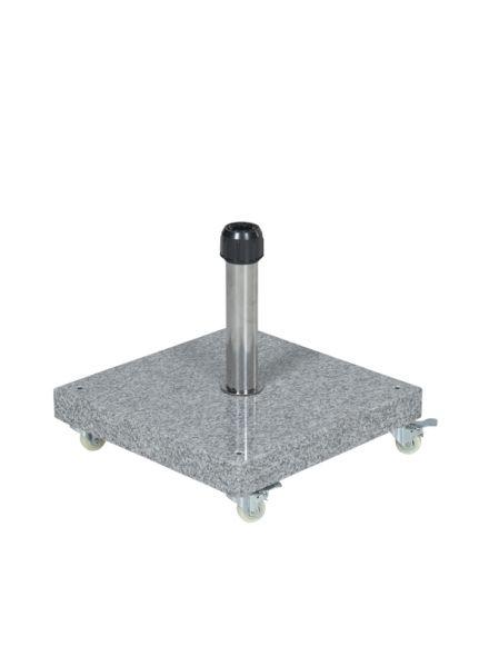 Eureka granieten voet 40K (nature grey/ verrijdbaar)