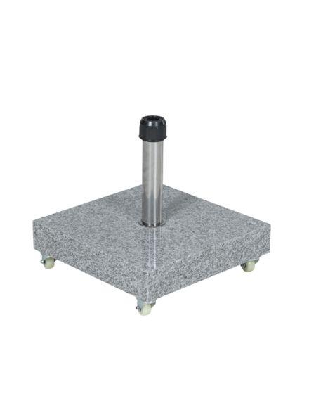 Eureka granieten voet 60K (nature grey/ verrijdbaar)