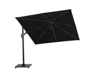 Hawaii Lumen parasol 300x300 cm (carbon black/zwart)