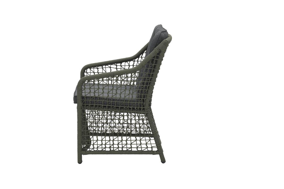 Alexandria dining fauteuil (rope moss green Ø4mm/ r. black)