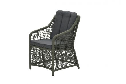 Alexandria dining fauteuil (rope moss green Ø4mm/ r. black)