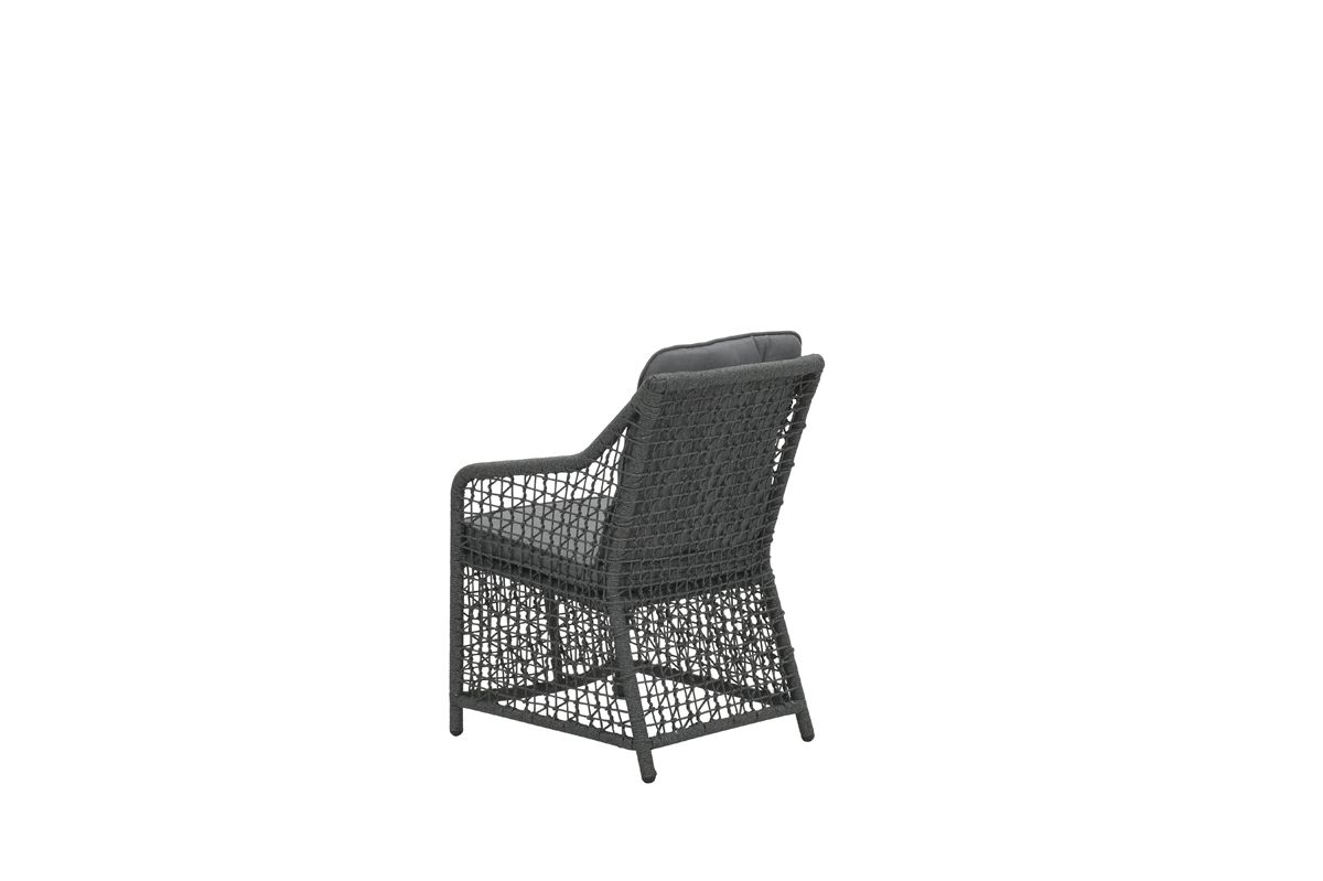 Alexandria dining fauteuil (rope d. grijs Ø4mm/refl. Grey)