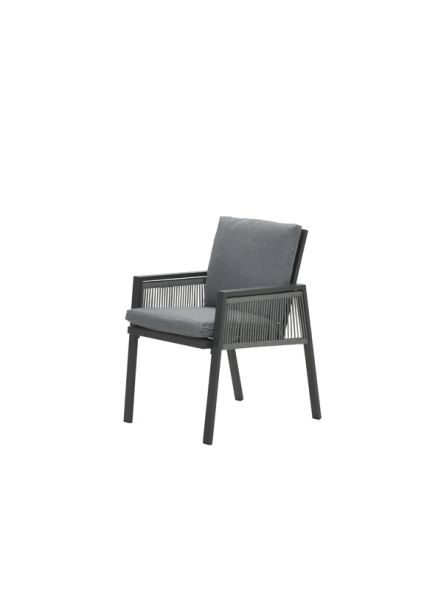 Andrea dining fauteuil (c.bl./rope silv gr Ø8mm/l.grey)