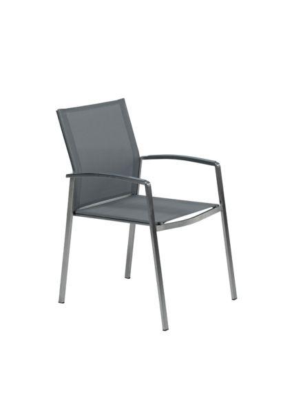 Andermatt dining stoel (grijs textileen)