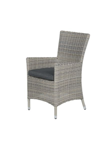 Costa dining fauteuil (vintage willow HØ6mm/ r. black)