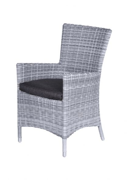 Costa dining fauteuil (cloudy grey HØ5mm /refl. Black)