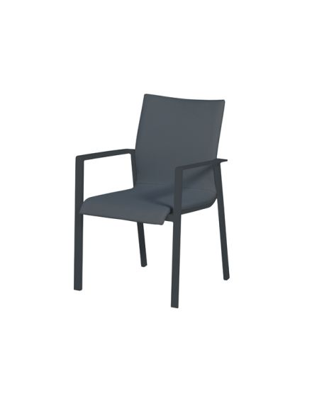 Dallas dining fauteuil (carbon black/ antraciet)