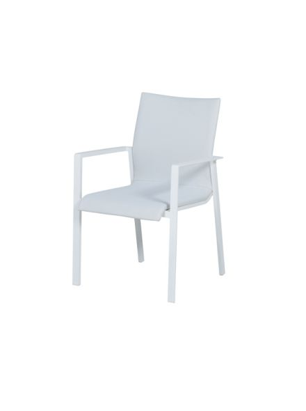 Dallas dining fauteuil (mat white/ off white)