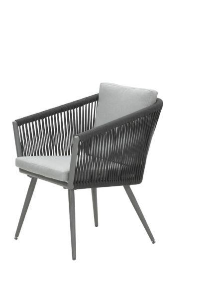 Darwin dining fauteuil (a. grey/ rope d. gr Ø5mm/l. gr)