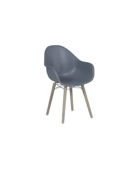 Pontone dining fauteuil (acacia white wash / donker grijs)