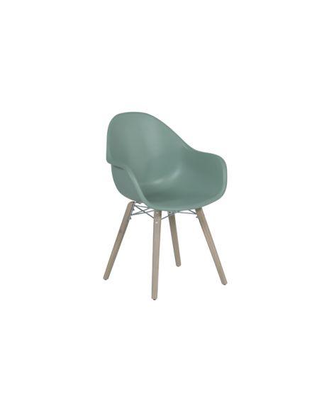 Pontone dining fauteuil (acacia white wash / jade groen)