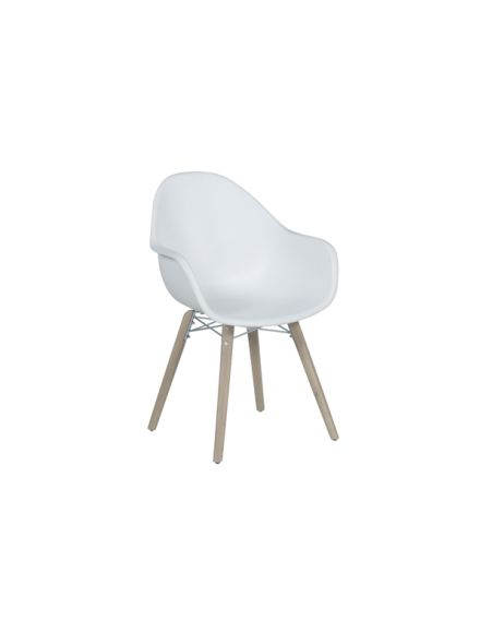 Pontone dining fauteuil (acacia white wash / wit)