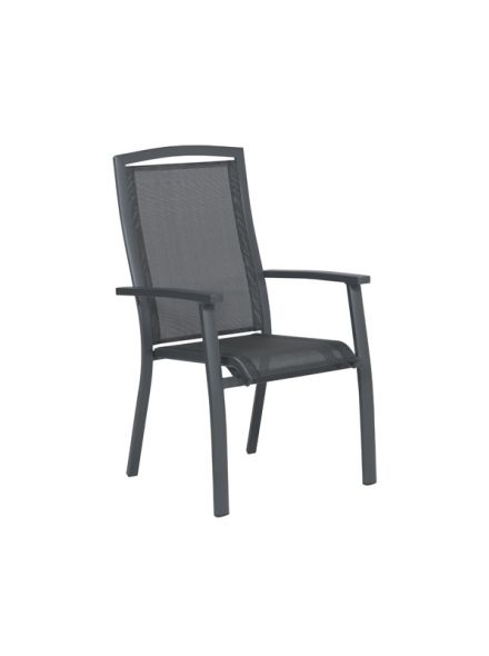 Saphir stapelbare stoel 62x68x103,5 cm (carbon black/ antraciet)