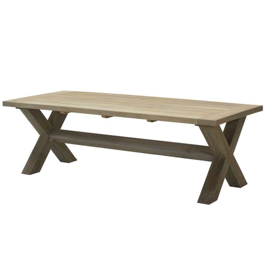 Colombia tafel 240x100xH77 cm (grey teak / legs 12x12)