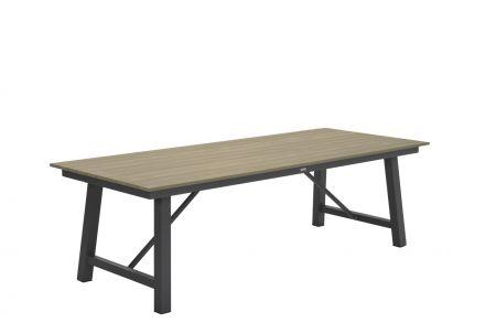 Harvard tafel 250x100xH74 cm (VW vintage teak/ carbon black