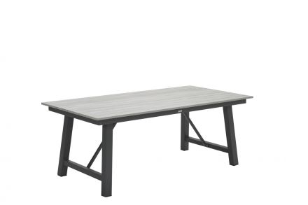 Harvard tafel 200x100xH74 cm (VW vintage grey/ carbon black)