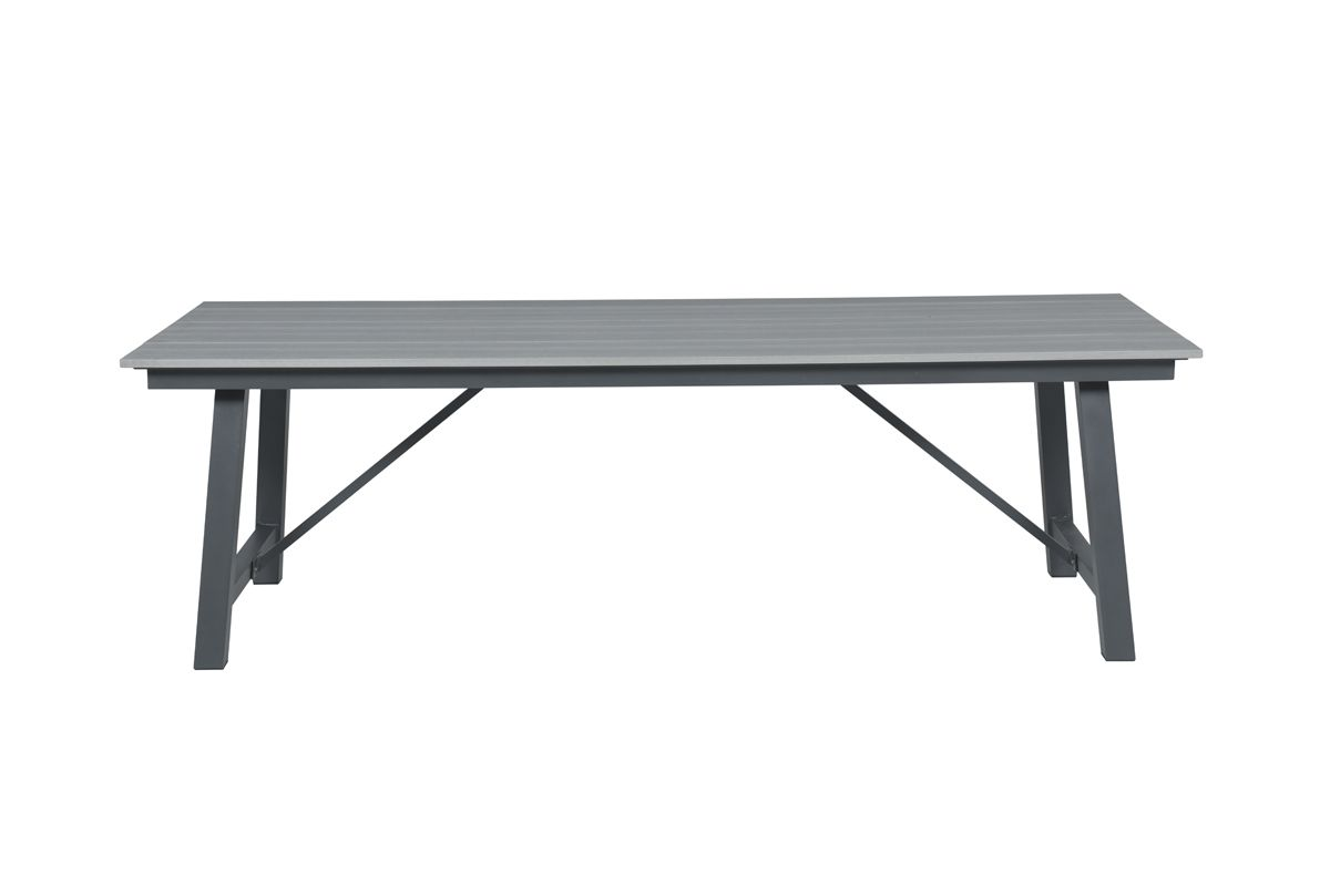 Harvard tafel 250x100xH74 cm (VW vintage grey/ carbon black)