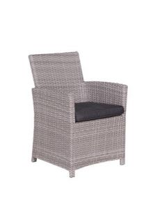 Blue bird Lounge dining fauteuil (organic grey 2-h/ d. antraciet)