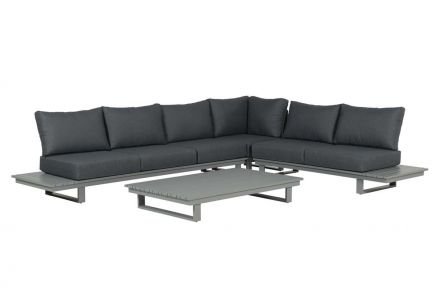 Amazone lounge set 4-dlg (arctic grey/ reflex black)