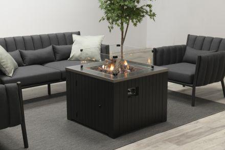 Cozy Living sfeerhaard Faro (carbon black aluminium/60x60)