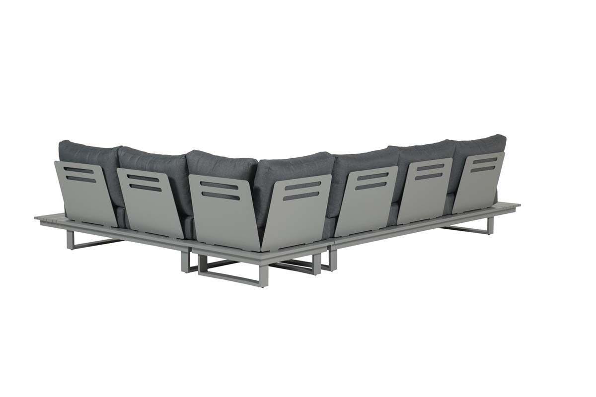 Amazone lounge set 4-dlg (arctic grey/ reflex black)