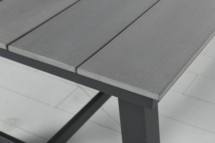 Brisbane tafel 250x100 cm (carbon black/grey polywood)