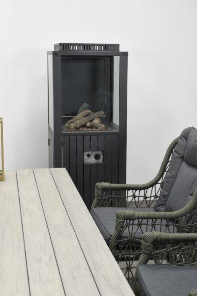 Cozy living sfeerhaard Sevilla (carbon black 55x55xH151)