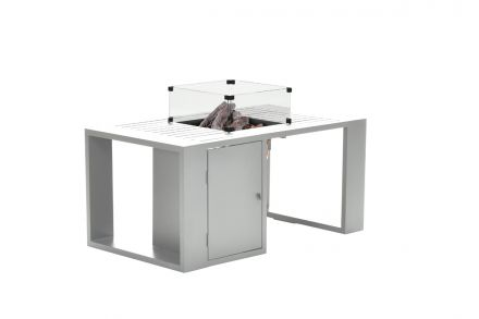 Cozy living sfeerhaard Sines (mat white/130x70xH48)