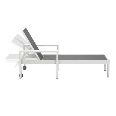Cube ligbed (mat wit/antraciet)