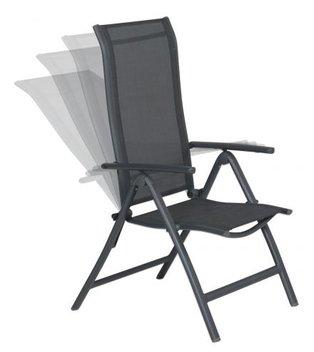Limone verstelbare stoel (carbon black/antraciet)