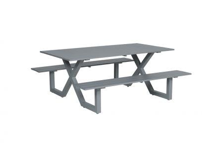 Napels picknick set (L180xW170xH71 arctic grey)