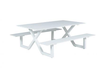 Napels picknick set (L210xW170xH71 mat white)