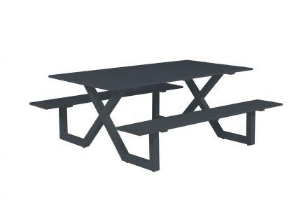 Napels picknick set (L180xW170xH71 carbon black)