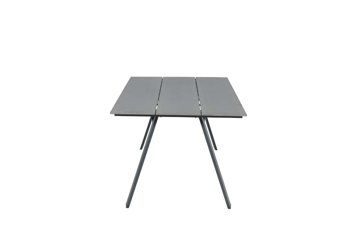 Nevada dining tafel 205x100 cm (carbon black/vintage wood polywood)