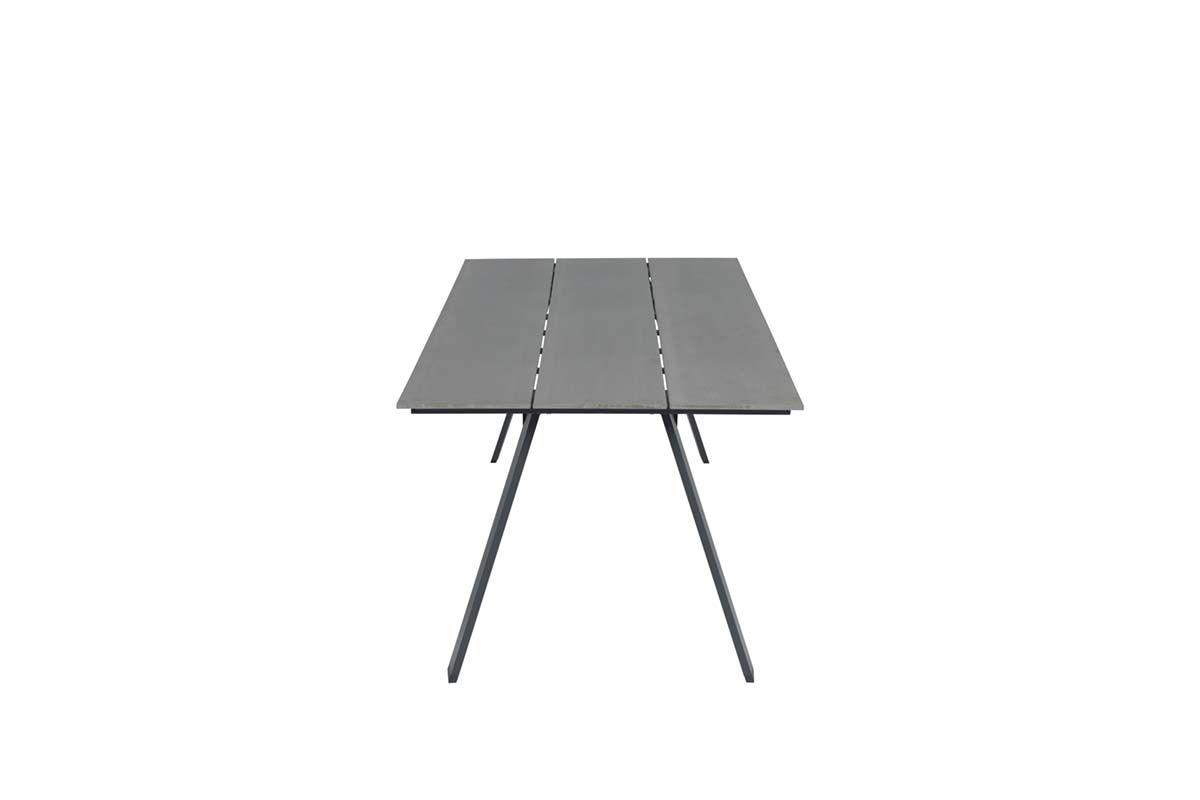 Nevada dining tafel 240x100 cm (carbon black/vintage wood polywood)